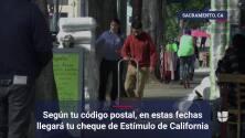 Según tu código postal, en estas fechas llegará tu cheque de Estímulo de California