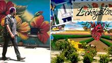 """""""Solo pedí una pared"""": artista hispano cuenta cómo cumple su sueño en medio de las murallas de Livingston"""
