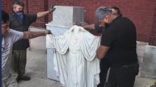 """""""No hay respeto"""": Indignación por actos vandálicos contra figuras religiosas de una parroquia en La Villita"""