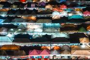 Bangkok, Thailand 'Bangkok market from above' by @michelle.wandering (Netherlands)