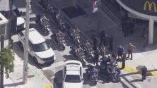 Persecución de un motociclista termina en el Downtown de Miami