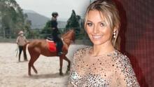 Irina Baeva regresó a sus clases de equitación, luego de cinco meses de haberlas dejado por una caída