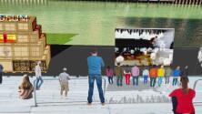 Presentan una galería de arte móvil que viajará por el río Chicago