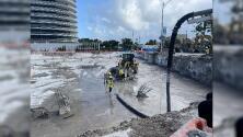 Queda vacía la zona en donde estaba el edificio Champlain Towers que se derrumbó