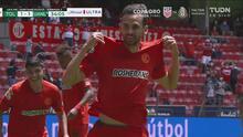 ¡Empatan con un golazo! 'Dedos' López la pone en el ángulo para el 1-1