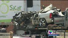 Camión de carga provocó un aparatoso accidente, chofer se dio a la fuga