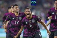 Jonathan dos Santos, feliz por el golazo que le metió a Honduras