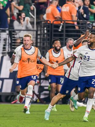 Kellyn Acosta of USA during the game United States vs Mexico, corresponding to the 2021 CONCACAF Gold Cup Grand Final, at Allegiant Stadium, on August 1, 2021.  <br> <br> Kellyn Acosta de USA durante el partido Estados Unidos vs Mexico, correspondiente a la Gran Final de la Copa Oro de la CONCACAF 2021,, en el Estadio Allegiant, el 01 de Agosto de 2021.