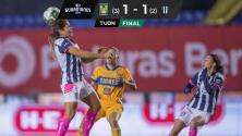 Tigres campeonas por tercera vez del Guard1anes 2020 MX Femenil