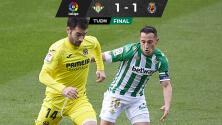 Real Betis rescata empate y corta racha de tres derrotas al hilo