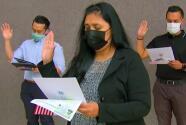 En el Día de la Ciudadanía en EEUU, acompañamos a una madre a juramentar en Los Ángeles