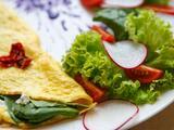 Omelette de pimiento y espinacas  | Reto 28