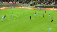 ¡GOL!  anota para Albania. Armando Broja