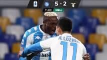 ¡Revulsivo! Chucky puso asistencia en goleada del Napoli