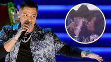 """""""Con todas afloja"""": Eduin Caz complace a fan y se deja besar en el escenario"""