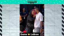 ¿Jugarán en los Lakers? El caluroso saludo entre LeBron y Lillard en WNBA