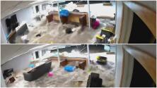 El peso del agua desplomó el muro de su casa: imágenes de los destrozos por Ida