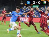 El 'Chucky' Lozano tuvo algunos minutos en el triunfo del Napoli sobre Legia