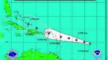 'Erika' se dirige hacia Puerto Rico y las Islas Vírgenes