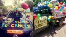 Este niño mexicano venció al cáncer y celebró con una caravana su última quimioterapia