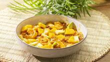 Camarones en salsa de mango y chipotle