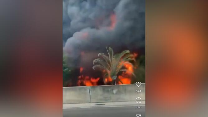 Camión cisterna con combustible se incendia en la I-595: una persona perdió la vida