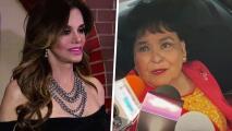 """Carmen Salinas culpa a """"la menopausia"""" por el incidente de Lucía Méndez con un maquillista"""