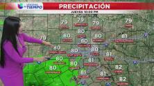 Se esperan cielos parcialmente soleados y algunas lluvias durante este jueves en el Metroplex