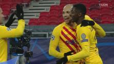 ¿Será una goleada? Braithwaite empuja el balón para el 0-2 del Barcelona