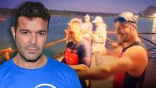 Pablo Montero participó en un triatlón sirviendo de guía a un atleta invidente