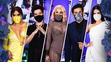 Los famosos aprovecharon el cubrebocas para acentuar su look en Premios Juventud