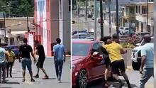 (VIDEO) Captan a Rey Charlie peleando al lado de una escuela frente a estudiantes
