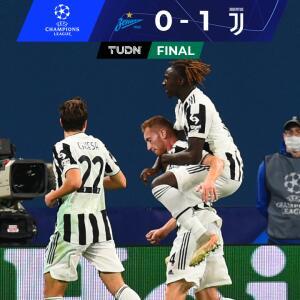 Resumen   Con mucho sufrimiento, Juventus derrota a domicilio al Zenit