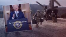 Tras críticas por la retirada de Afganistán, Biden da fuerte mensaje y cita grandes gastos de $300 millones diarios en esta guerra