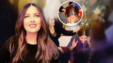 Angelina Jolie empujó a Salma Hayek para que le diera la tradicional 'mordida' mexicana a su pastel