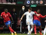 Costa Rica empata ante Bosnia y sigue sin ganar desde hace 16 meses