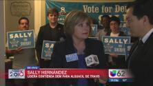 Sally Hernandez lidera para puesto de Alguacil