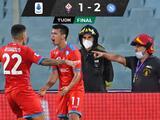 Hirving Lozano marca gol en el partido del Napoli ante Fiorentina