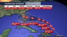 Reporte del Centro Nacional de Huracanes de las 11AM ET del 29 de agosto sobre el huracán Dorian