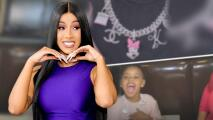 Cardi B y Offset le dan a su hija de 3 años un collar de diamantes y un reloj de 250,000 dólares