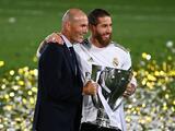 """Sergio Ramos se despide de Zidane, al que consideró """"único e irrepetible"""""""
