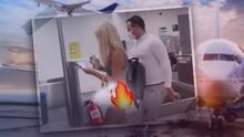 """(Video) Mujer camina por el aeropuerto en diminuto bikini y enciende controversia: """"Por lo menos traía su mascarilla"""""""