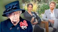 """""""Suficiente"""": paciencia de la reina Isabel se agota y tendría un plan contra Meghan Markle y el príncipe Harry"""