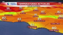 El intenso calor se mantiene para este domingo en Los Ángeles