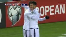 Goooolll!! Andrea Belotti mete el balón y marca para Italia