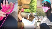 Arte callejero con hilos y lanas embellece árboles, postes y esculturas del centro de Fresno