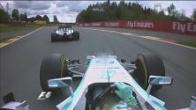 Guerra en Mercedes: Lewis Hamilton y Rosberg chocan en Bélgica