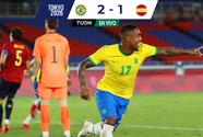 ¡Brasil es de Oro! Con gol de Malcom, Brasil derrota a España