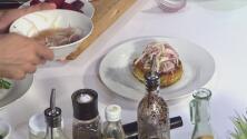 La receta: pancake de vegetales y veggie burger