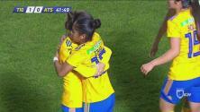 ¡Goool de Tigres! Belén Cruz abre el marcador desde medio campo